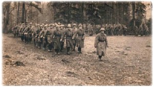 Brigade soldiers on the March